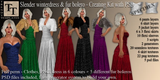 Promo Slender Wintergown with Bolero