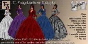 Promo Vintage Lace Gown