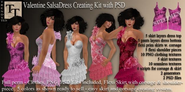 Promo Valentine SalsaDress Creation Kit with PSD