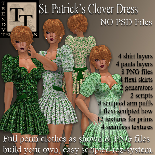 Vendor St Patrick Clover Dress