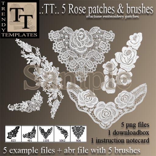 Vendor Rose Patches & Brushes_s