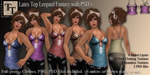 Promo Latex Top Leopard Fantasy