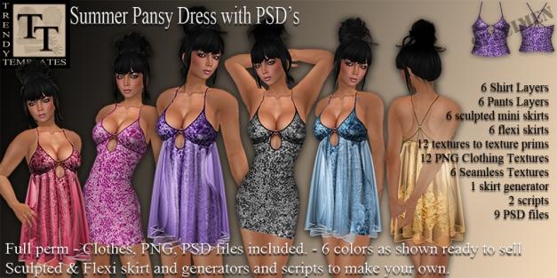 Promo Summer Pansy Dress