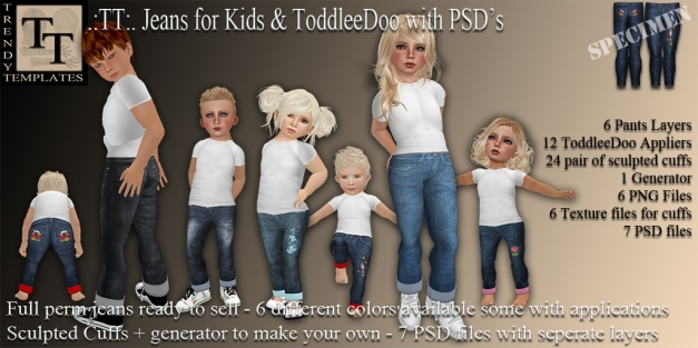 Promo Jeans for Kids with PSD