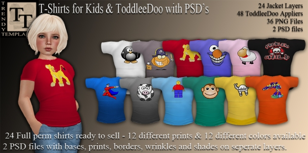 Promo T-Shirts for Kids with PSD
