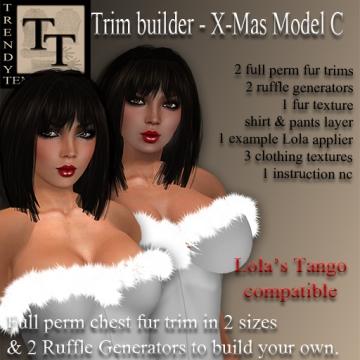 Promo TT Trim Builder Christmas Model C
