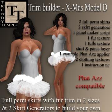 Promo TT Trim Builder Christmas Model D