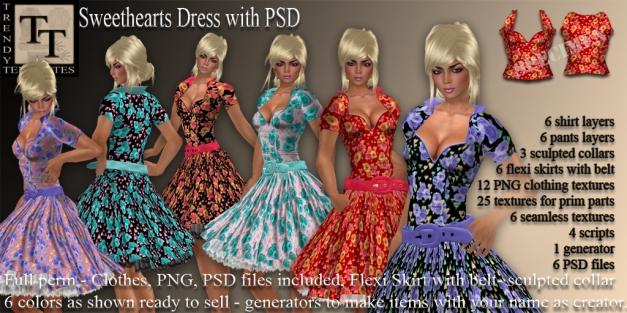 Promo Sweethearts Dress with PSD