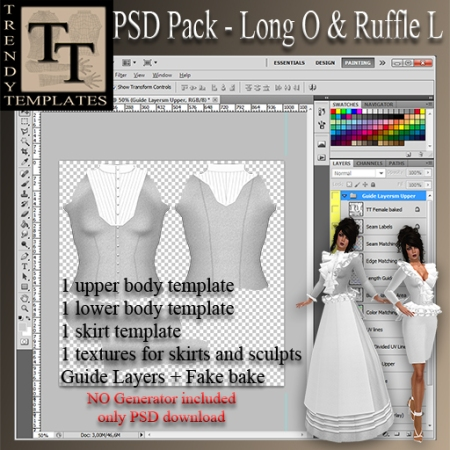 PROMO PSD Pack Long Model P & Ruffle Model L
