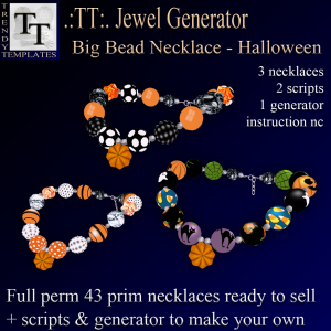 PROMO Jewel Generators Big Bead Necklace-Halloween