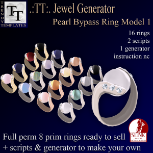 PROMO Jewel Generators Pearl Bypass Ring Model 1