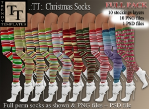 TT Christmas Socks Full pack