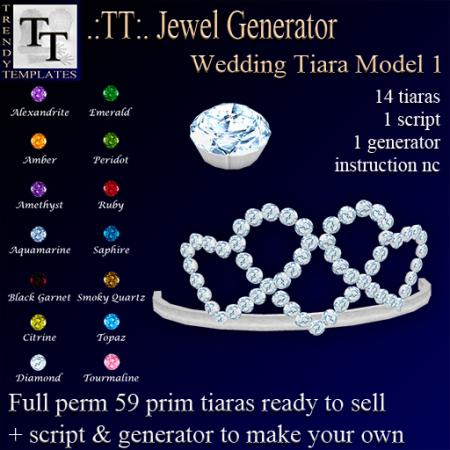 Vendor Jewel Generators Wedding Tiara Model 1