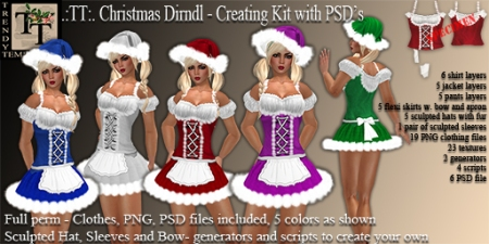 Vendor TT Christmas Dirndl Creation Kit with PSD