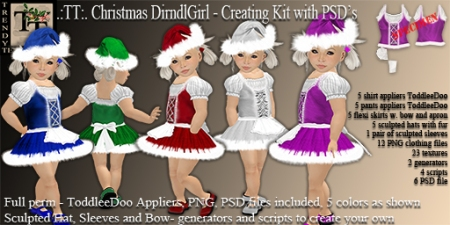 Vendor TT Christmas DirndlGirl Creation Kit with PSD