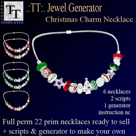 PROMO Jewel Generators Christmas Charm Necklace