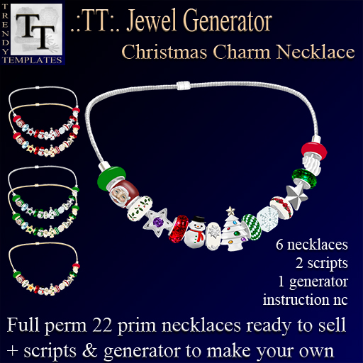 PROMO Jewel Generators Christmas Charm Necklace