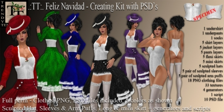 PROMO TT Feliz Navidad Creation Kit with PSD