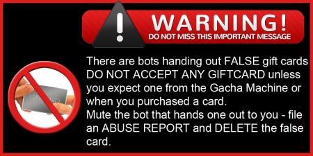 Giftcard warning