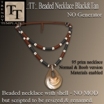 Promo Beaded Necklace Black&Tan