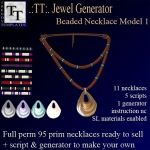 PROMO Jewel Generators Beaded Necklace Model 1