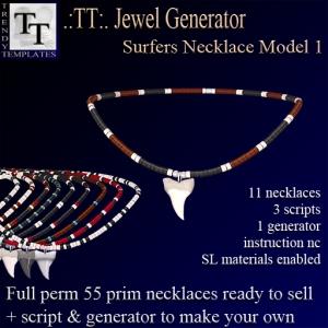 PROMO Jewel Generators Surfers Necklace Model 1