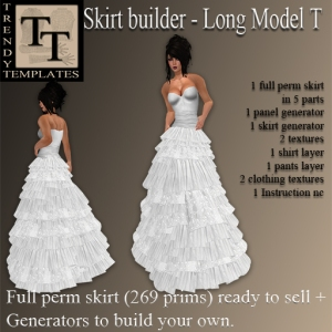 Builder Aid Skirt Generator Long Model T
