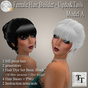 PROMO Female Updo&Tails Model A