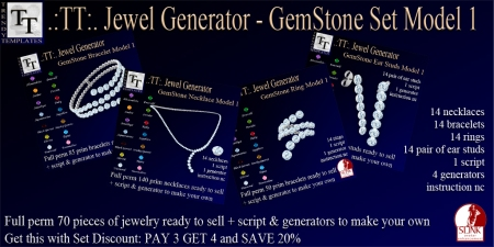 PROMO Jewel Generators GemStone Set Model 1