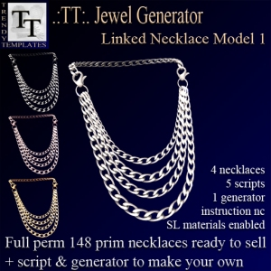 PROMO Jewel Generators Linked Necklace Model 1