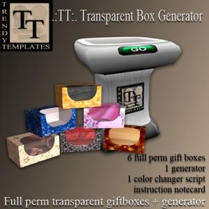 Promo Transparent Box Generator