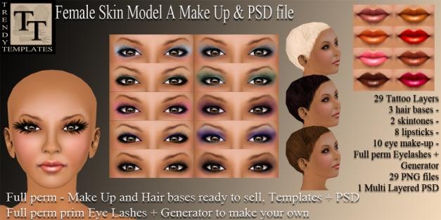 Promo TT Female Skin Model A MakeUp