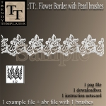 Promo Flower Border with Pearls Brush