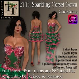 PROMO Sparkling Corset Gown X-Mas