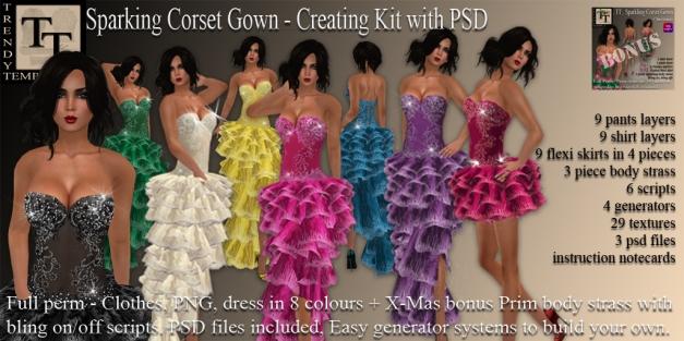PROMO Sparkling Corset Gown