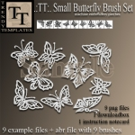 Vendor Small Butterfly Patches & Brushes