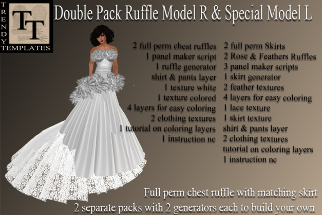 PROMO Generator Double Pack Ruffle Model R Special L