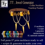 PROMO Jewel Generators Collar Necklace Teardrop pendant